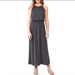 Gap High Neck Knit Maxi Dress True Black Sz large